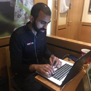 Deepak Shukla working in Costa coffee Cafe