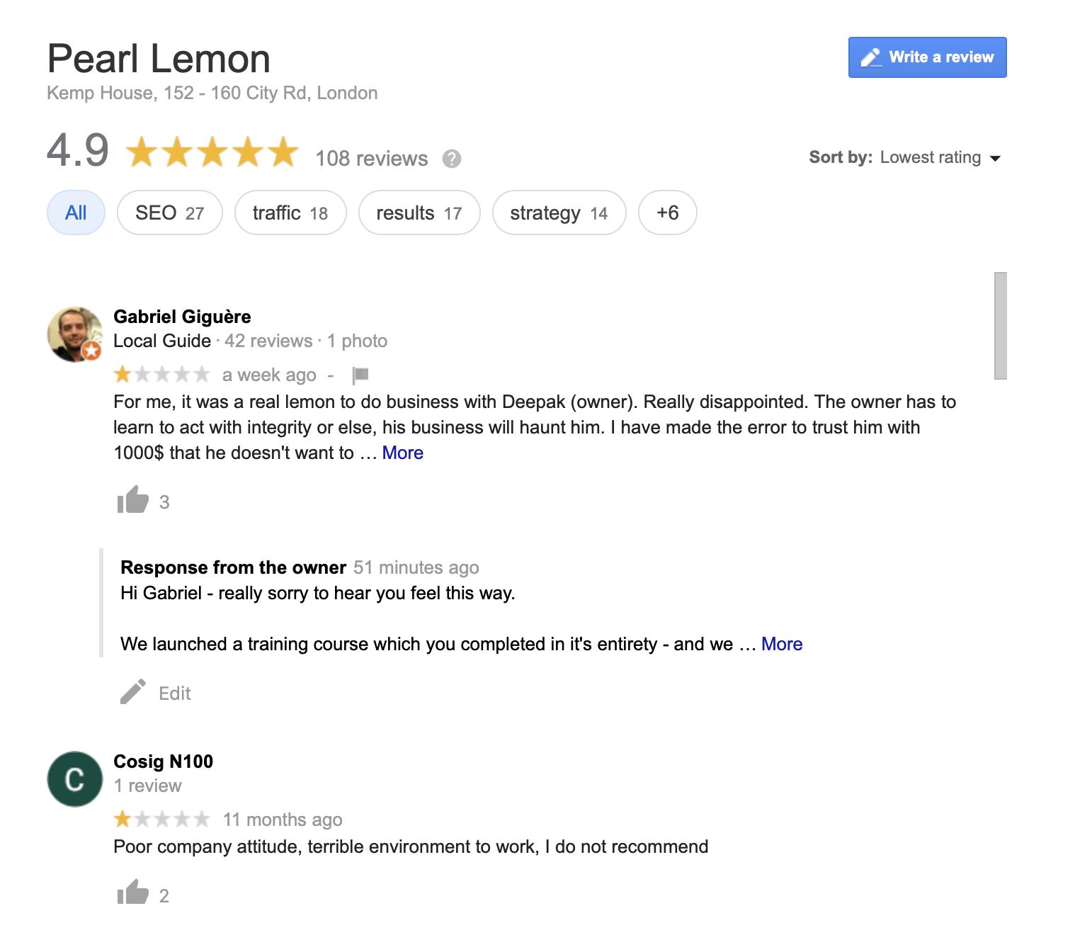 pearl lemon review